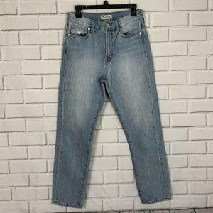 Madewell Perfect Summer Jeans Sz 27 Lightwash Tape